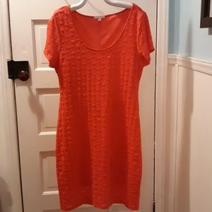 Isaac mizrahi co orange dress